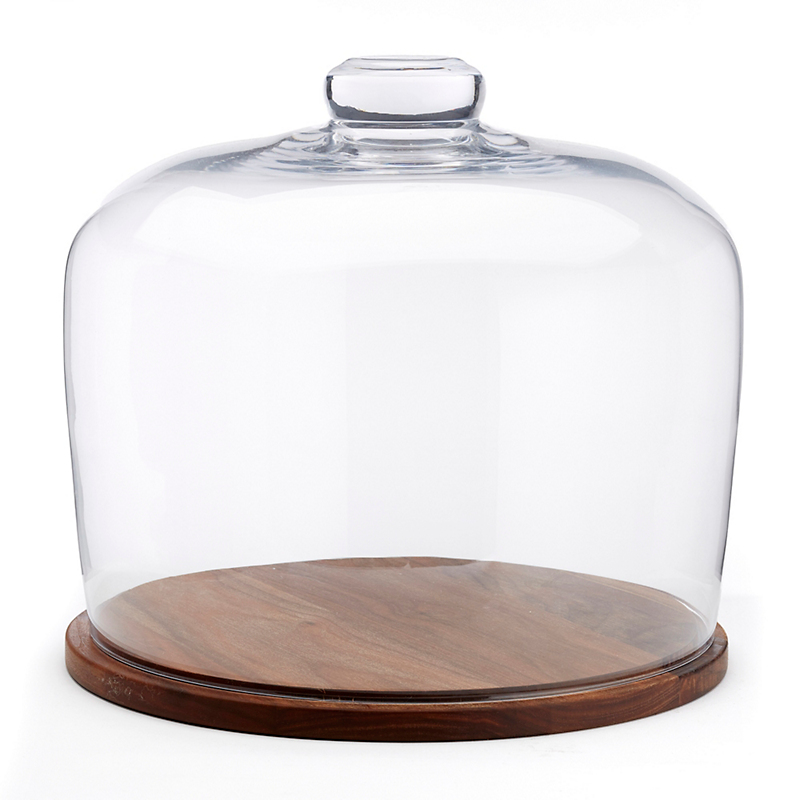 City Dome & Walnut Base, Large