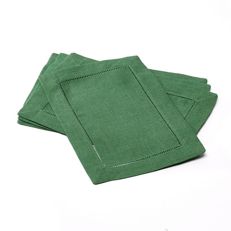 Sferra Set of 4 Festival Cocktail Napkins, Emerald