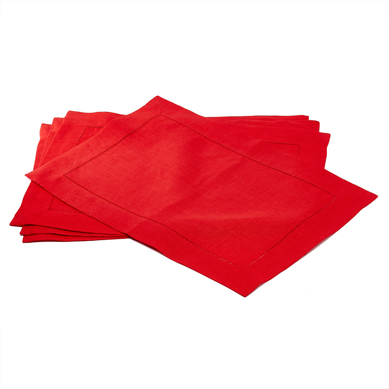 Sferra Set of 4 Festival Placemats, Red