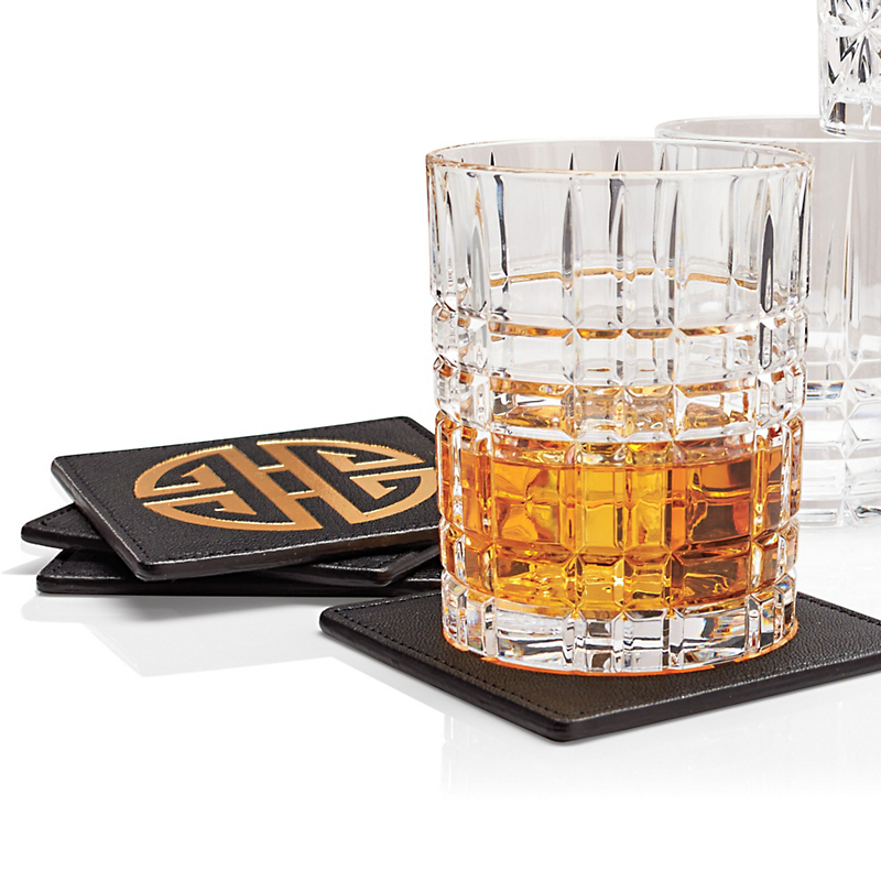 Leather Gump's Shou Coasters, Set of 4