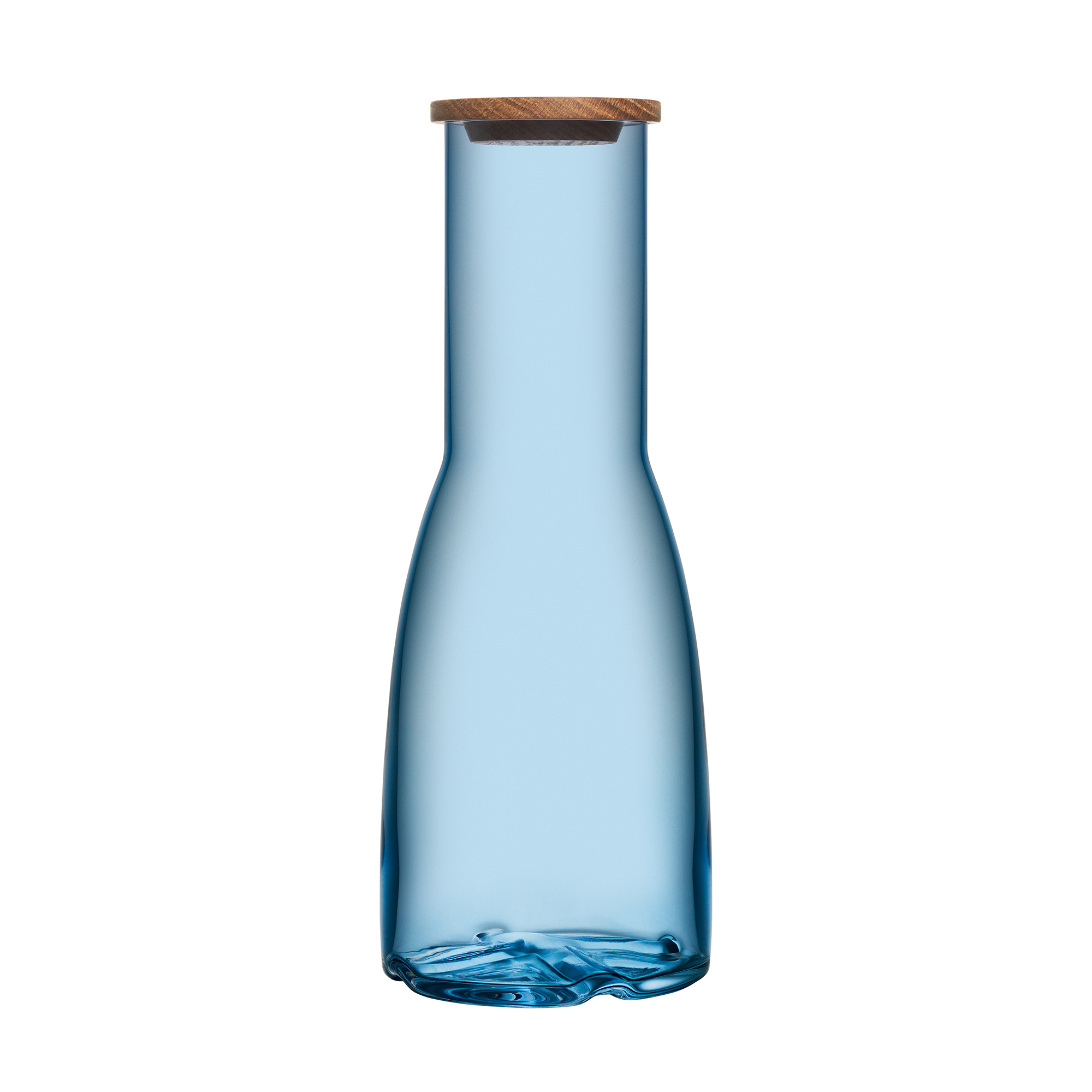 Kosta Boda Bruk Carafe with Oak Lid, Waterblue