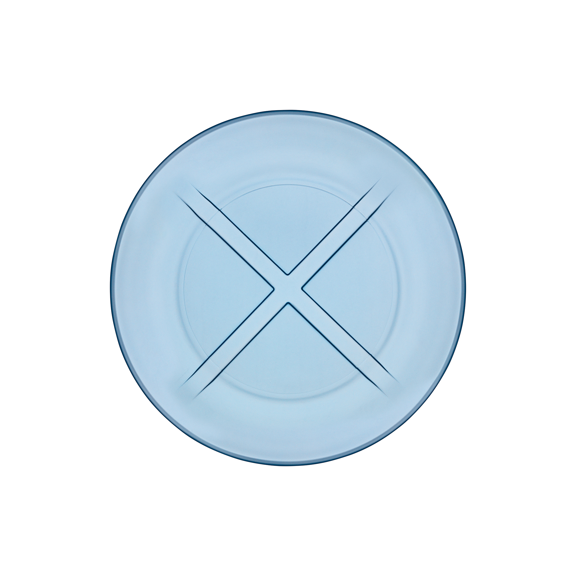 Kosta Boda Bruk Salad Plate, Waterblue