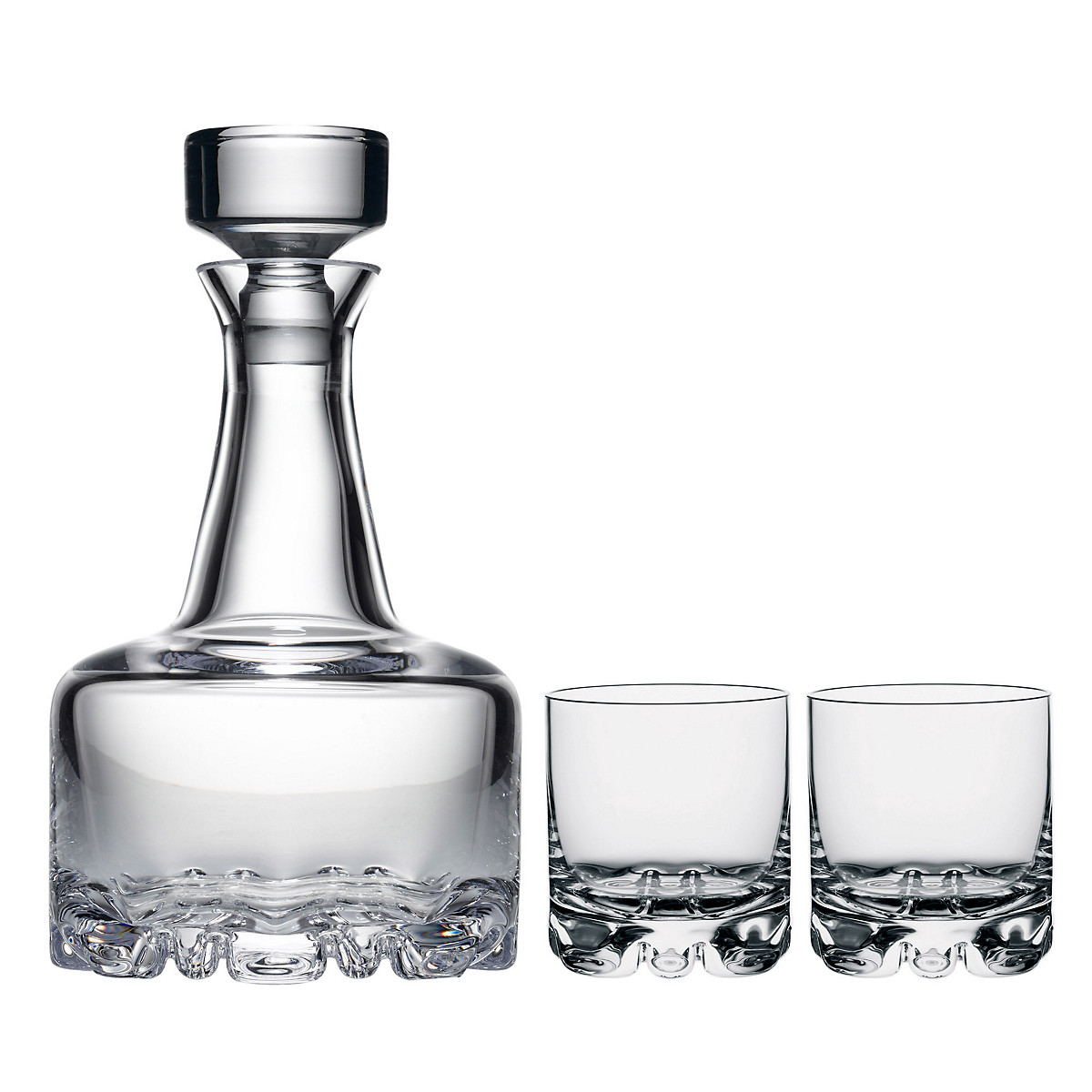 Orrefors Eric Double Old-Fashioned Glasses & Decanter Set