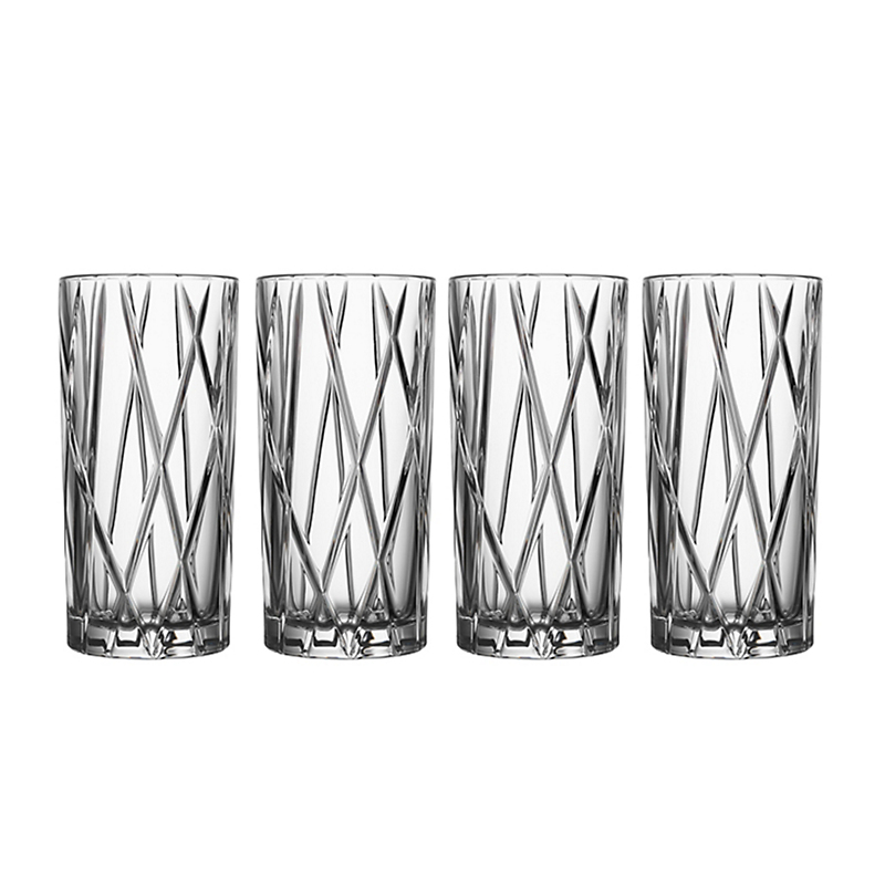 Orrefors City Highball Glasses, Set of 4