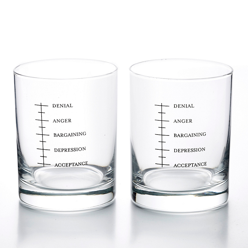 'Good Grief' Double Old-Fashioned Glasses, Set of 2