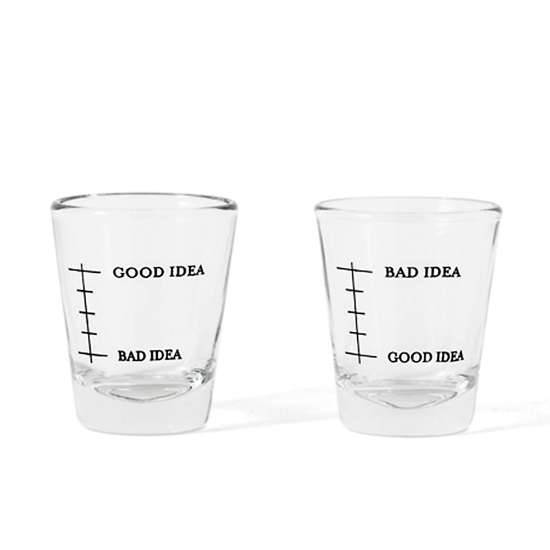 'Ideas' Shot Glasses, Set of 2
