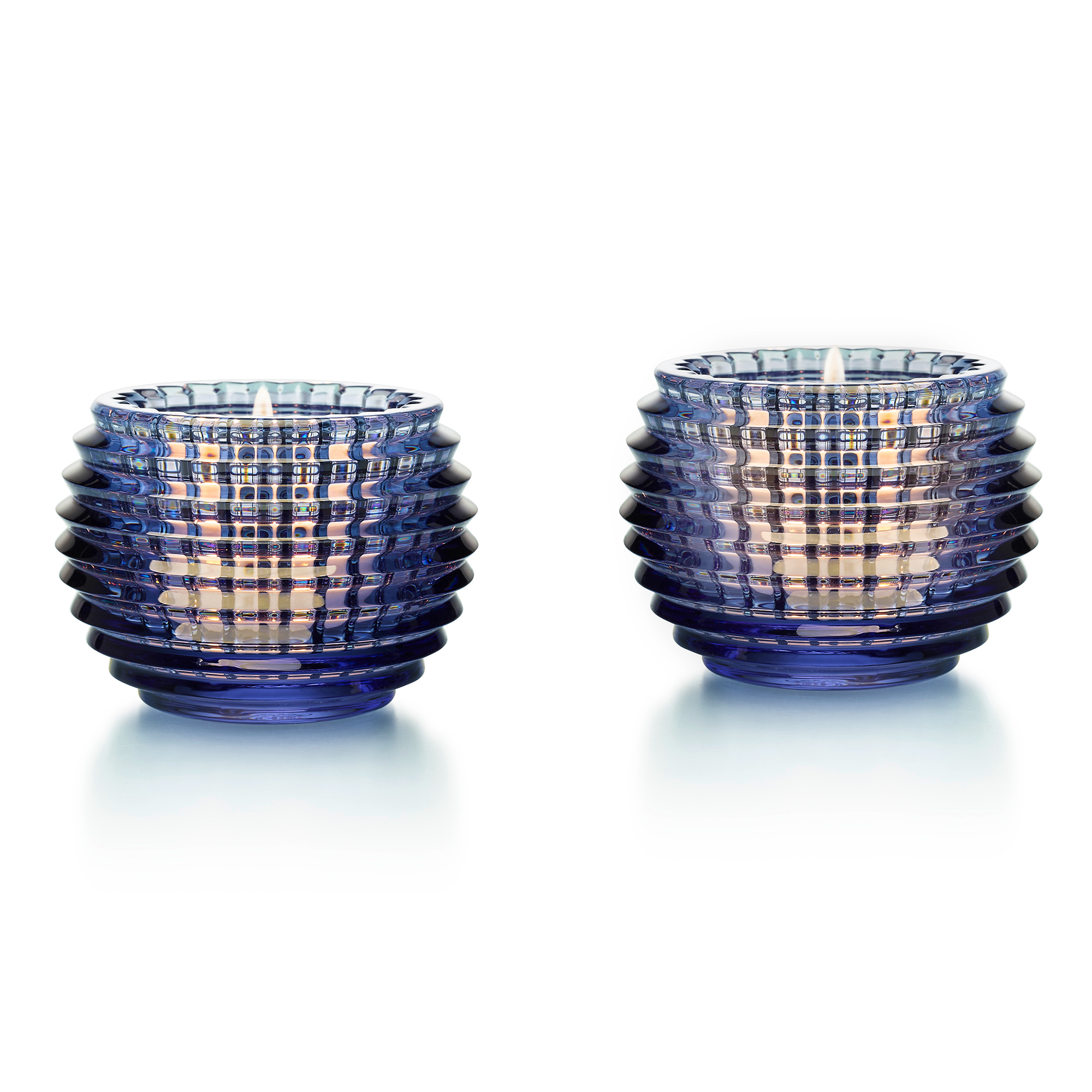 Baccarat Eye Votive, Set of 2 Blue