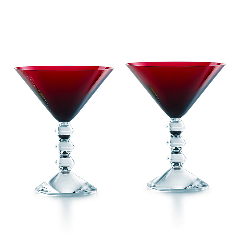 Baccarat Vega Martini Glasses, Set of 2 Red