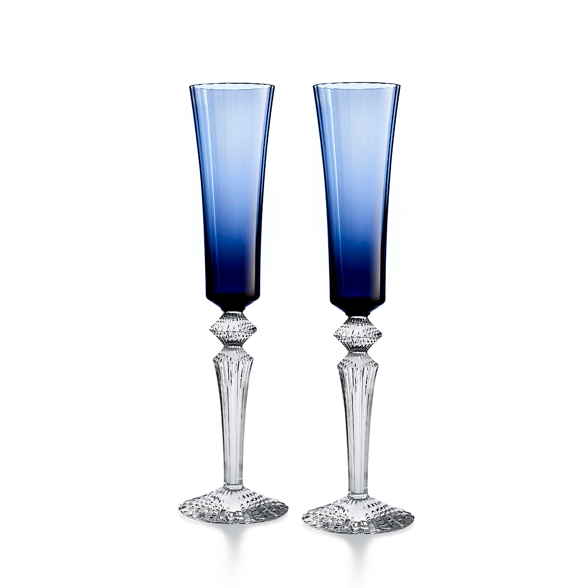 Baccarat Mille Nuits Flutissimo, Set of 2 Midnight Blue