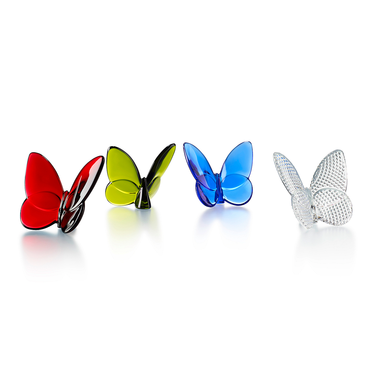 Baccarat Lucky Butterflies, Set of 4 Assorted Colors