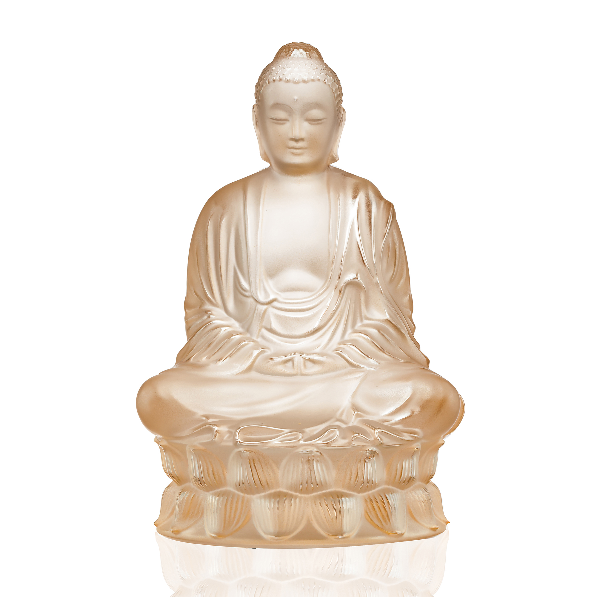 Lalique Buddha, Goldluster