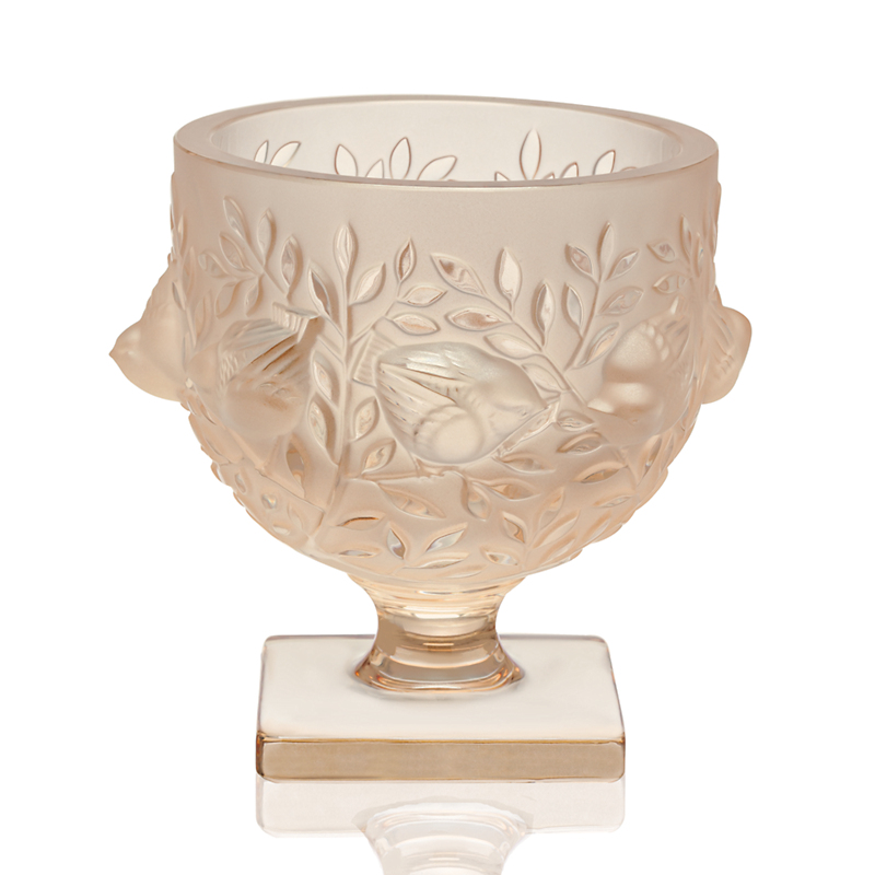 Lalique Elisabeth Vase, Goldluster