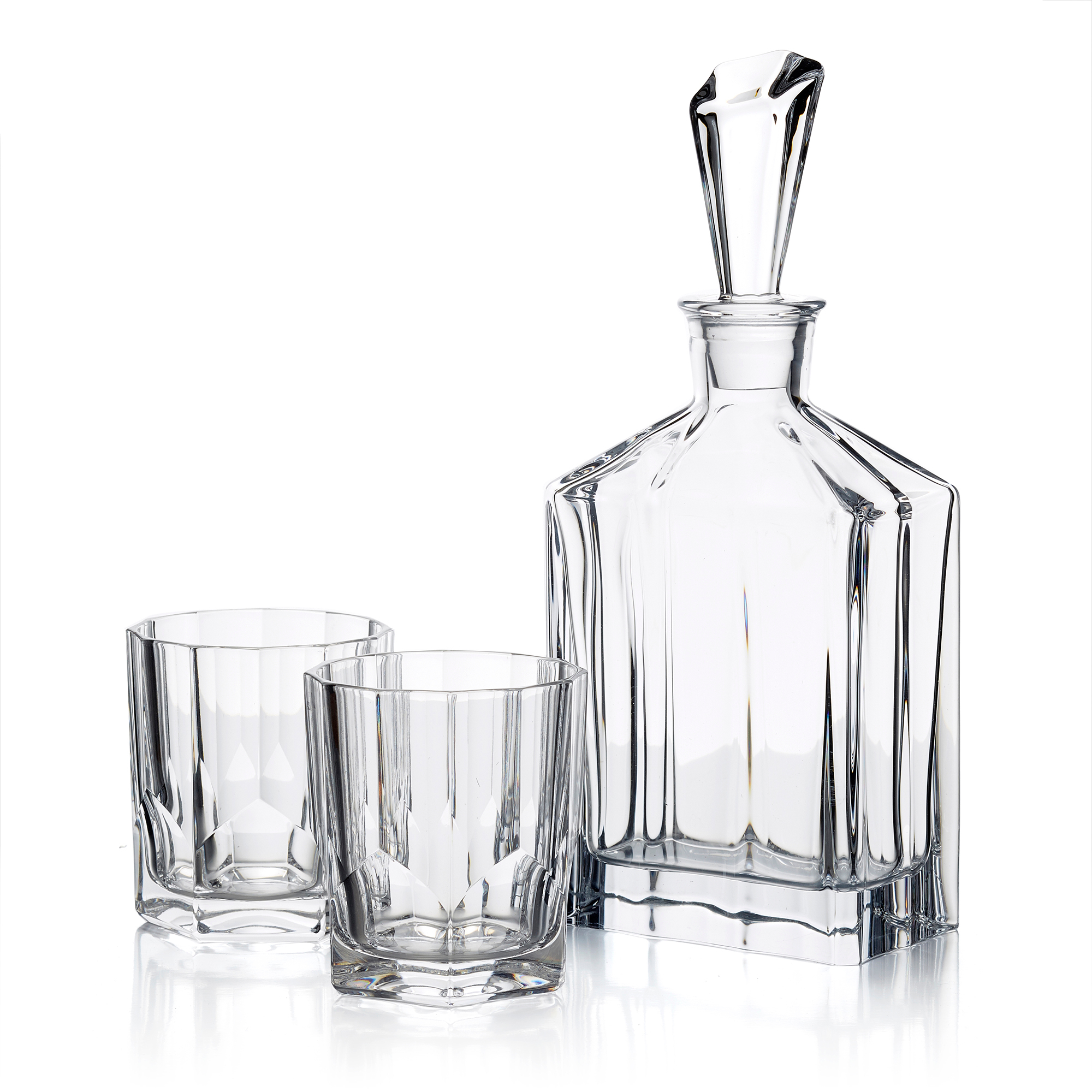 Nachtmann Aspen Decanter & Two Whiskey Glasses