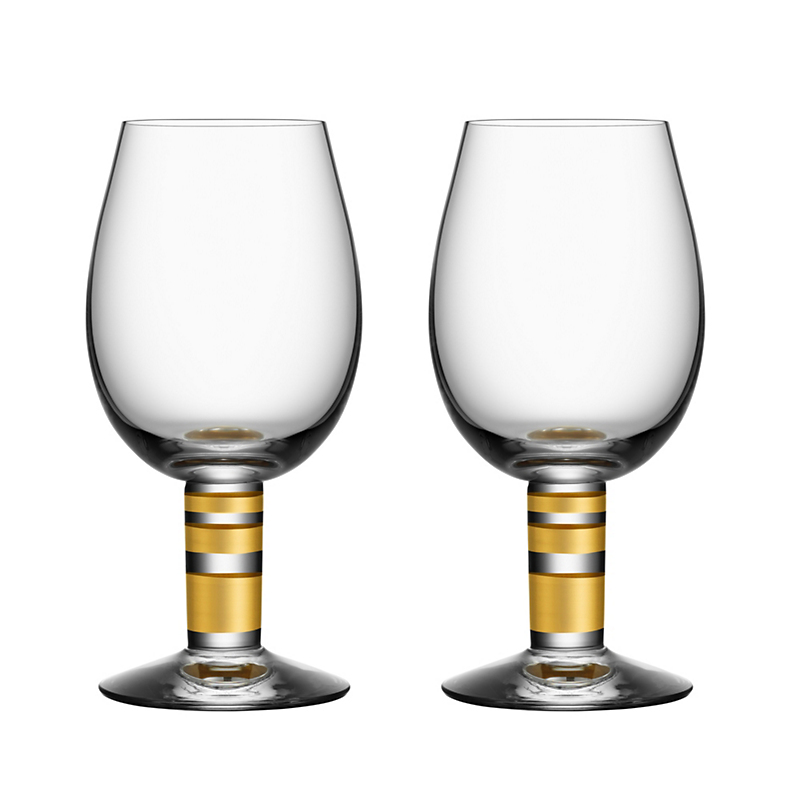 Orrefors Morgberg White Wine Glasses, Set of 2