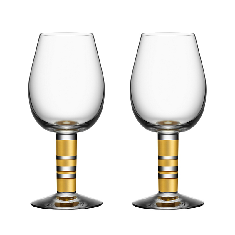 Orrefors Morgberg Red Wine Glasses, Set of 2