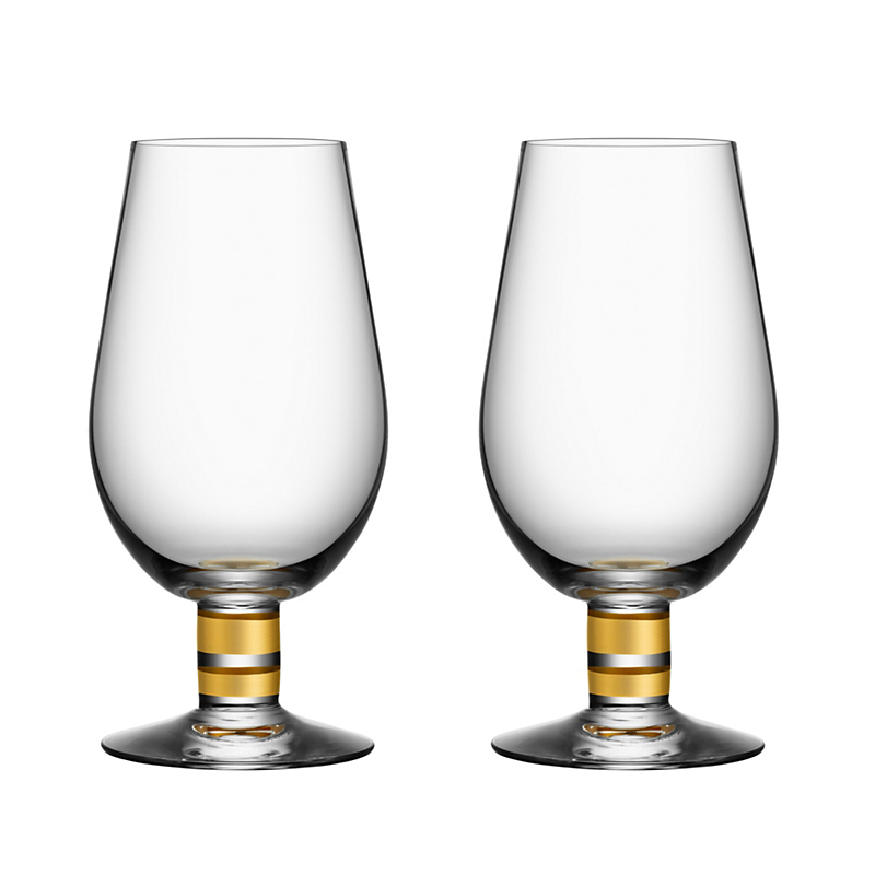 Orrefors Morgberg Beer Glasses, Set of 2