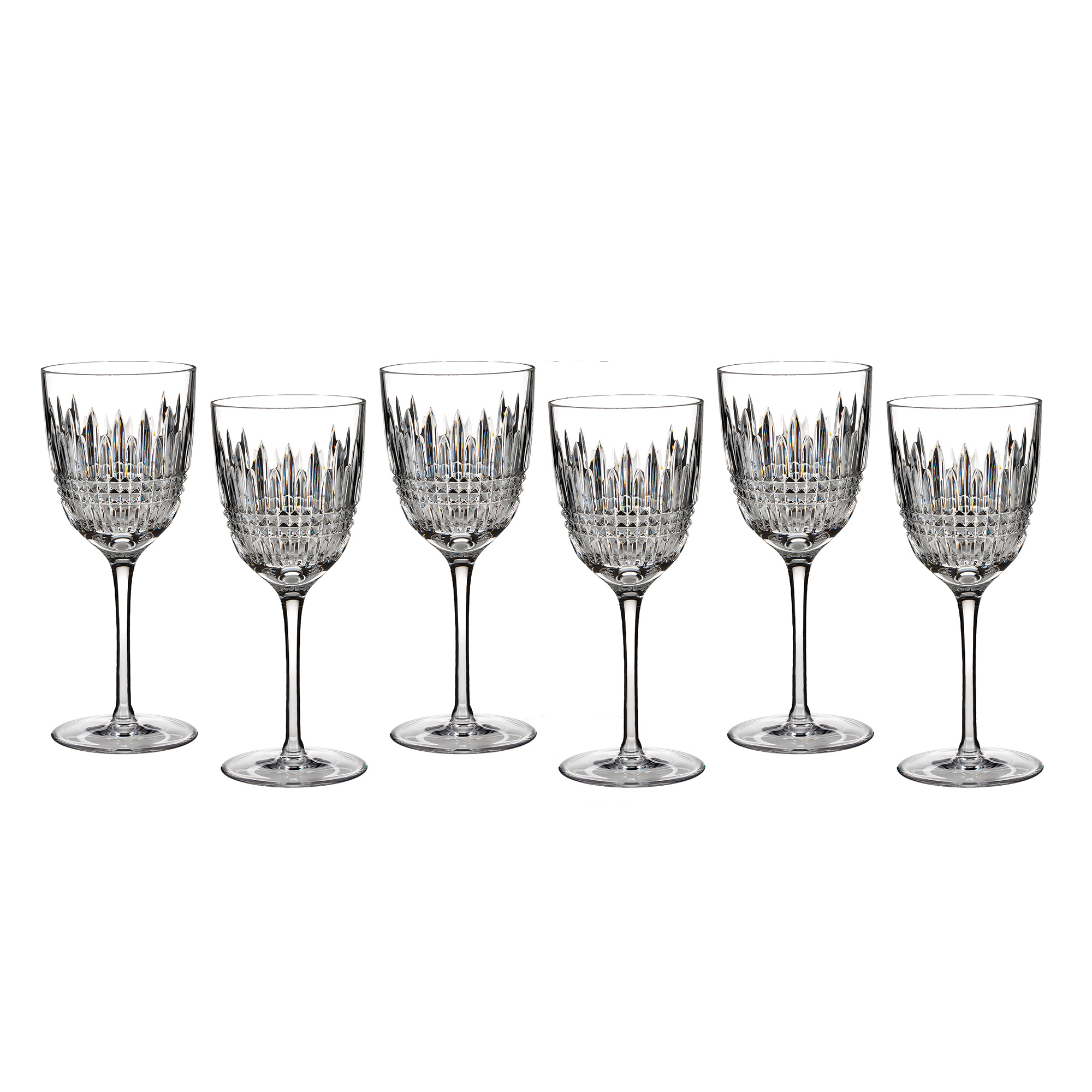 Waterford Lismore Diamond Goblets, Set of 6