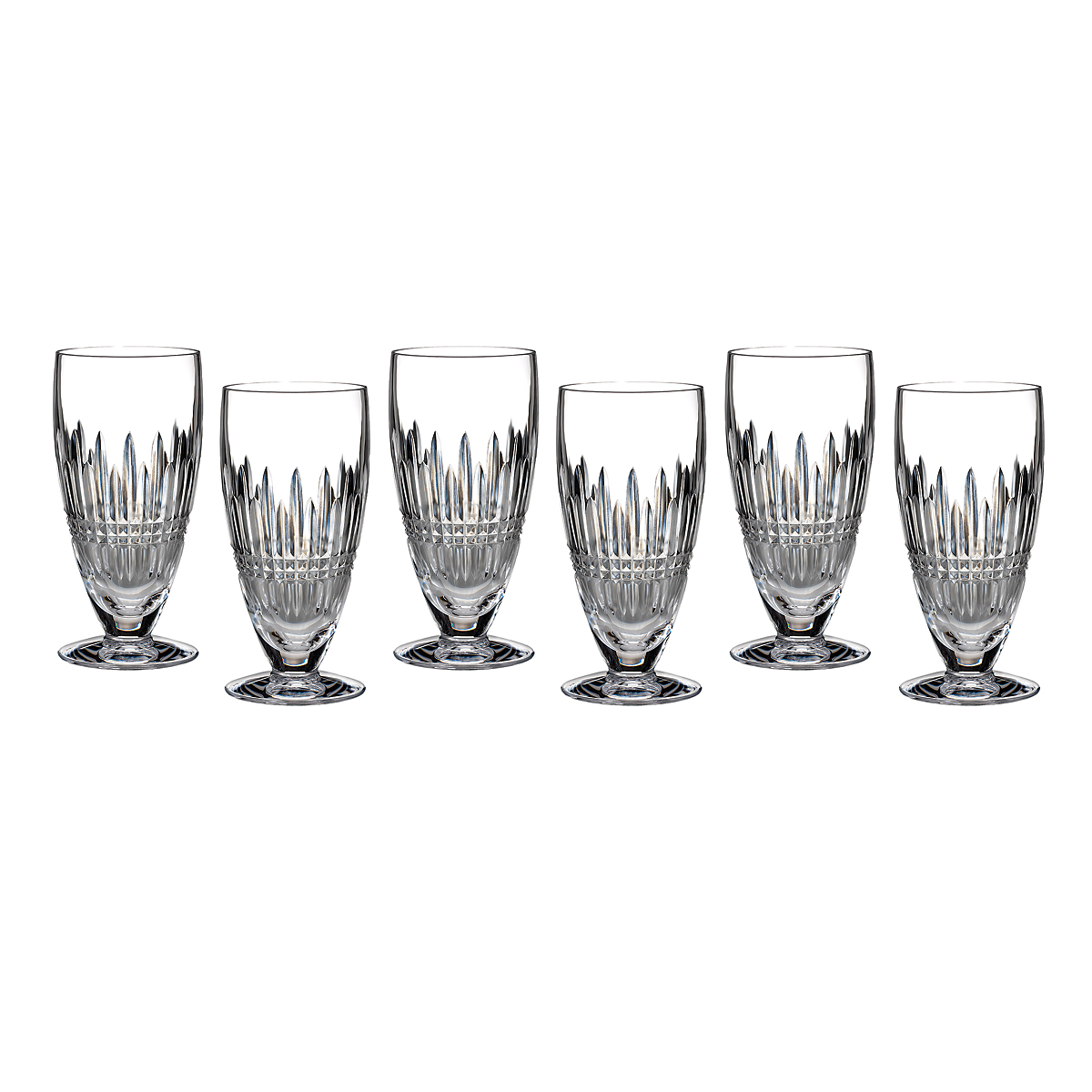Waterford Lismore Diamond Iced Beverage Glasses, Set of 6