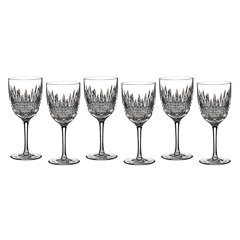 Waterford Lismore Diamond White Wine Glasses, Set of 6