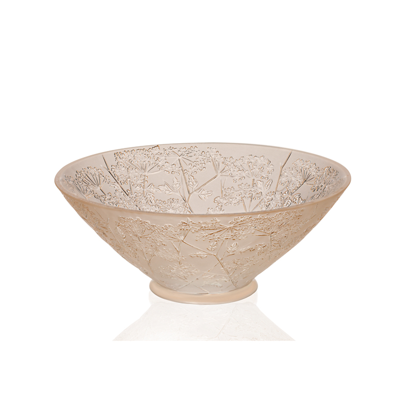 Lalique Ombelles Bowl, Goldluster