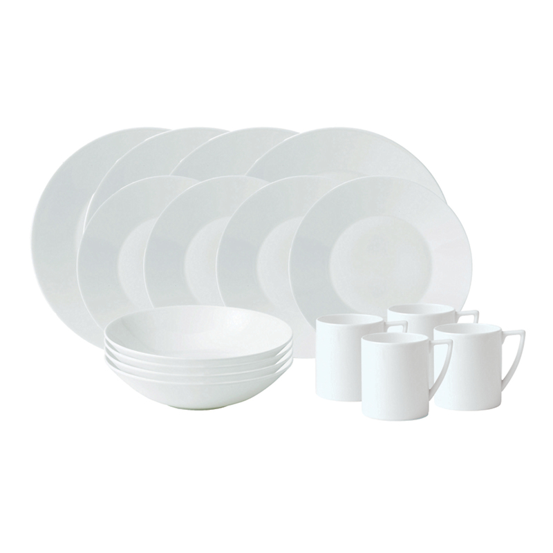 Wedgwood Jasper Conran White Dinner Service, 16-Piece Set