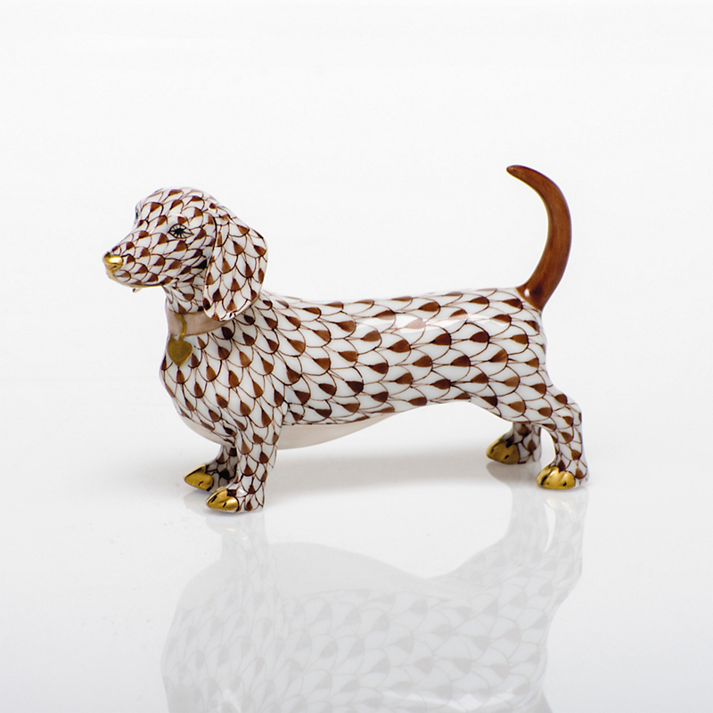 Herend Dachshund, Chocolate