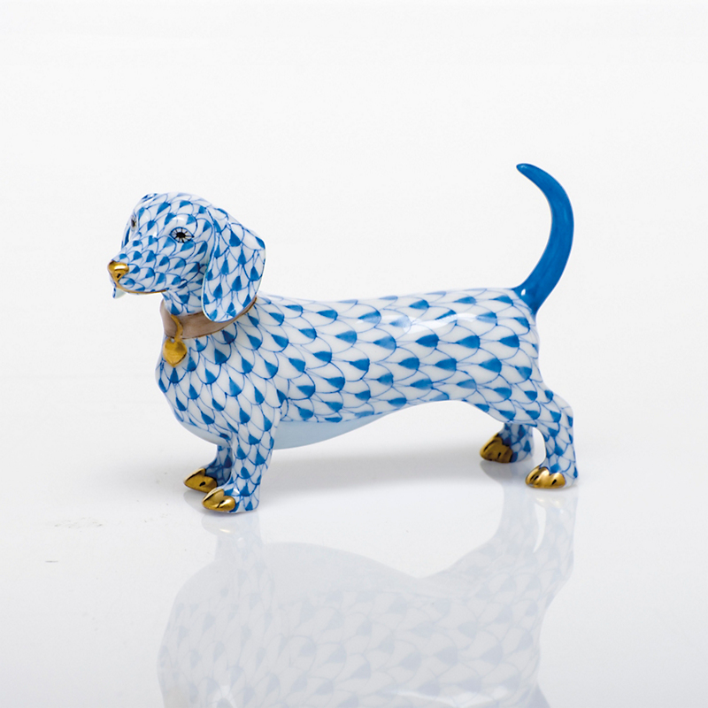Herend Dachshund, Blue