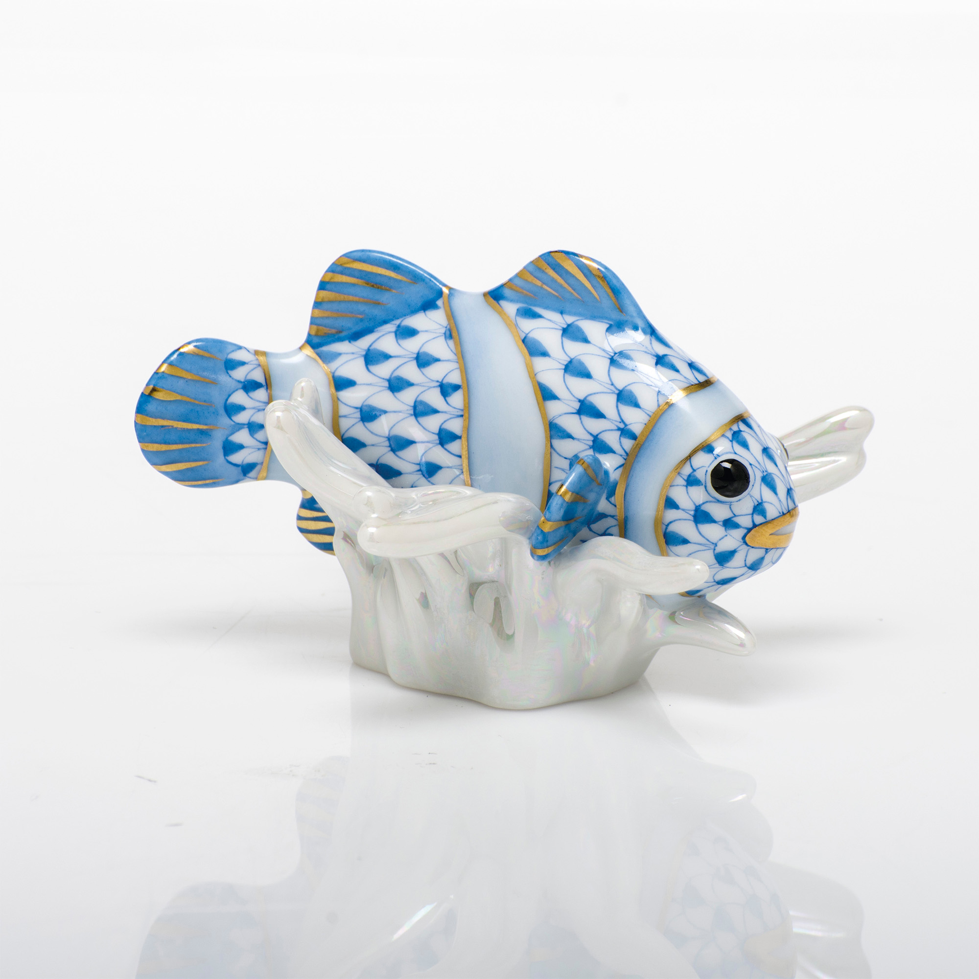 Herend Clownfish, Blue