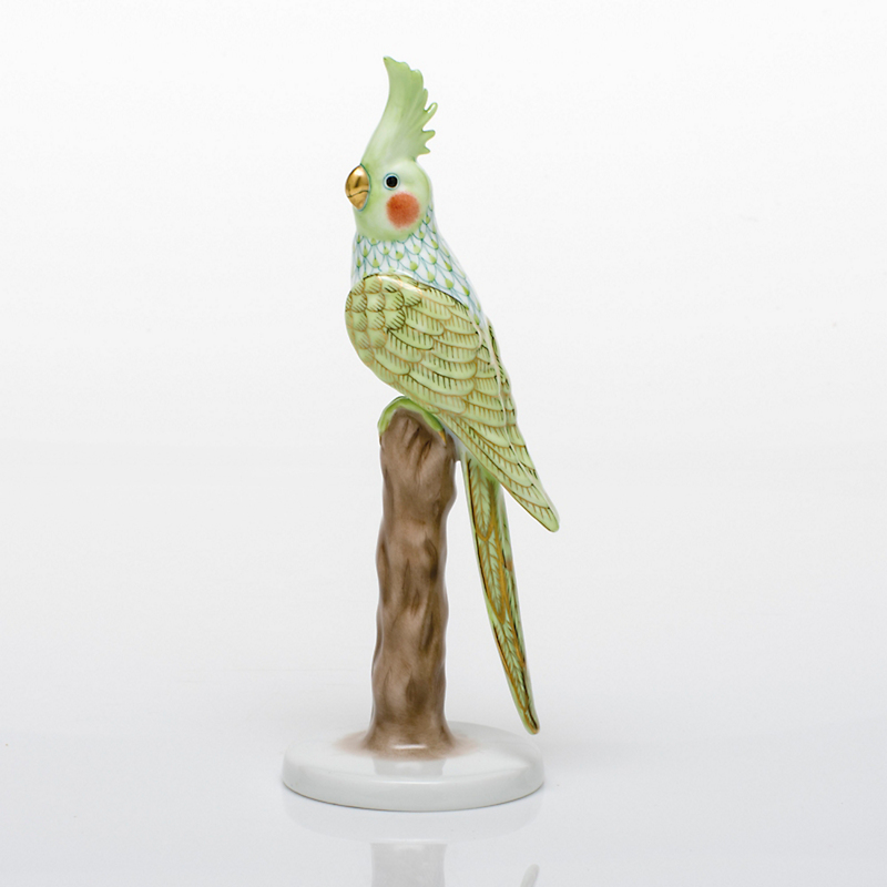 Herend Cockatiel, Key Lime