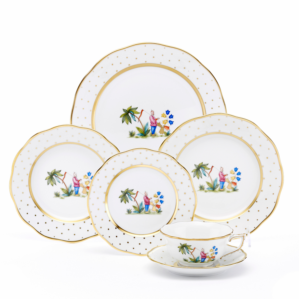 Herend Asian Garden Dinnerware, Motif 1
