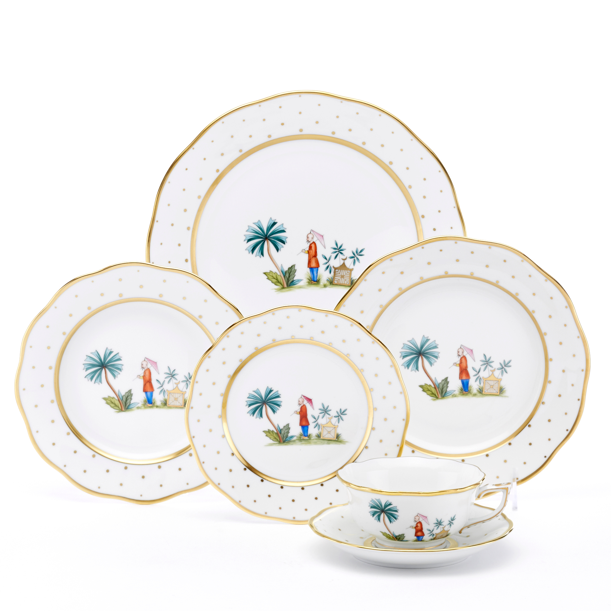 Herend Asian Garden Dinnerware, Motif 2