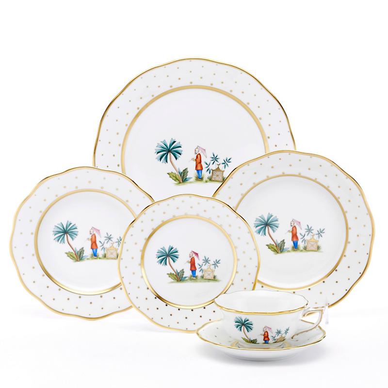 Herend Asian Garden Dinnerware Motif 2  sc 1 st  Gumpu0027s : asian living dinnerware - pezcame.com