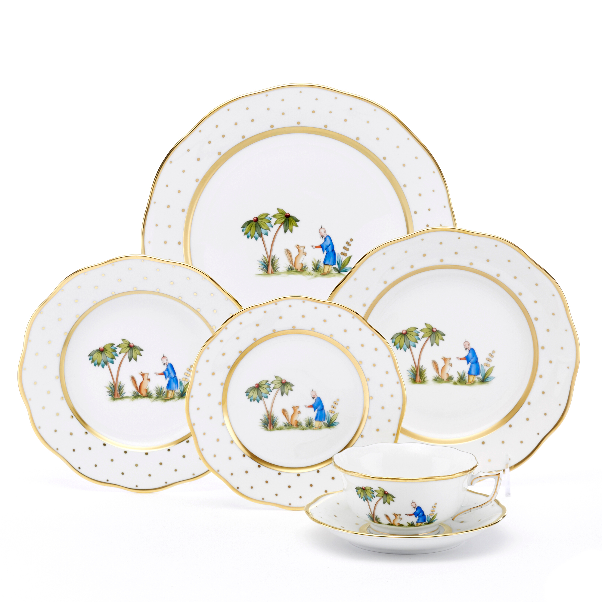 Herend Asian Garden Dinnerware, Motif 3