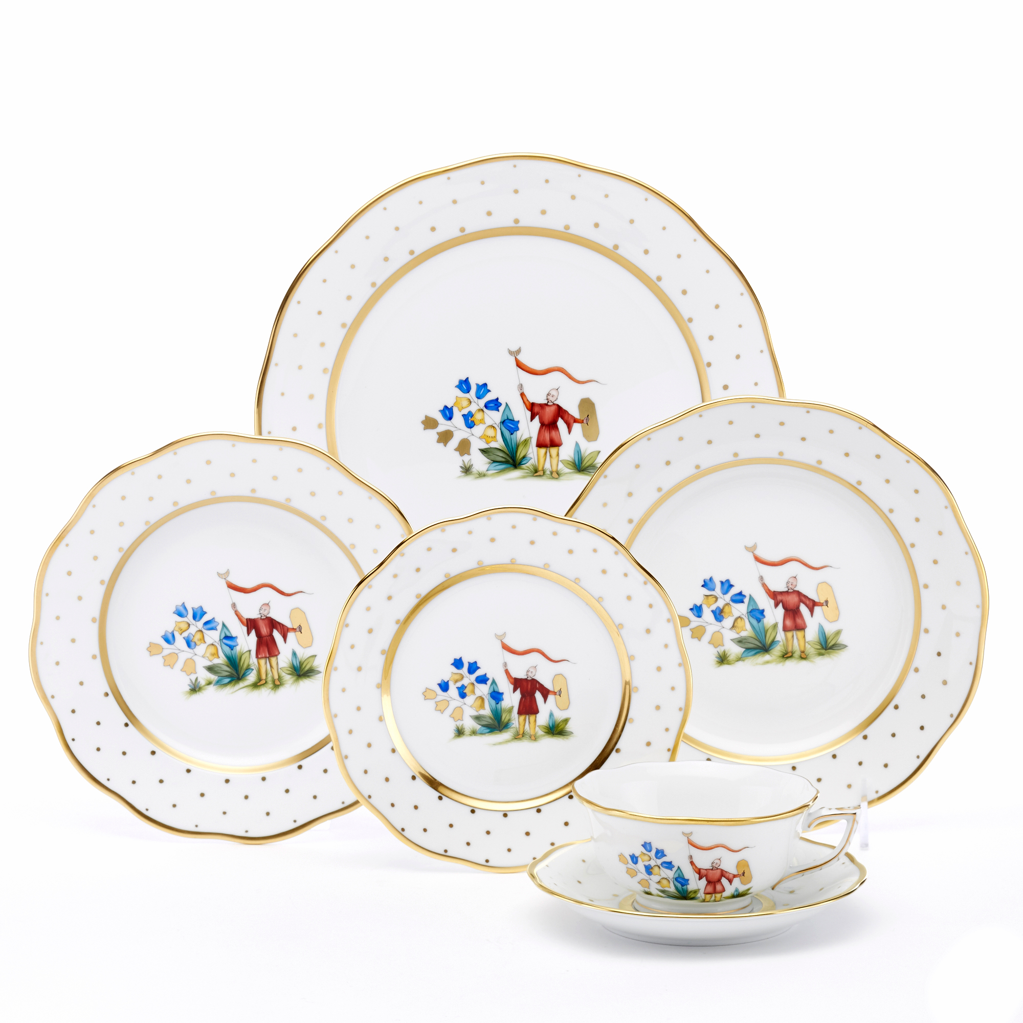 Herend Asian Garden Dinnerware, Motif 4