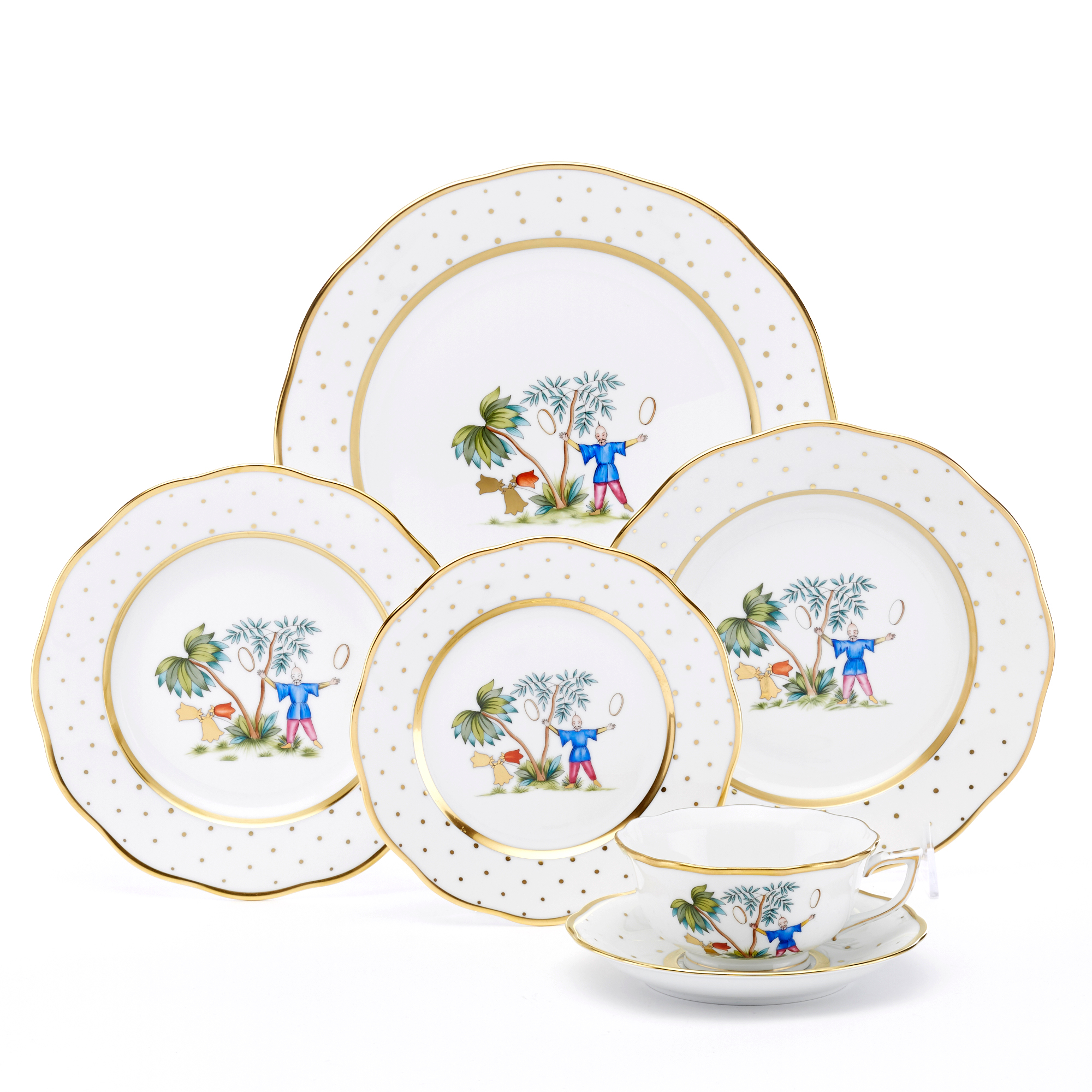 Herend Asian Garden Dinnerware, Motif 5