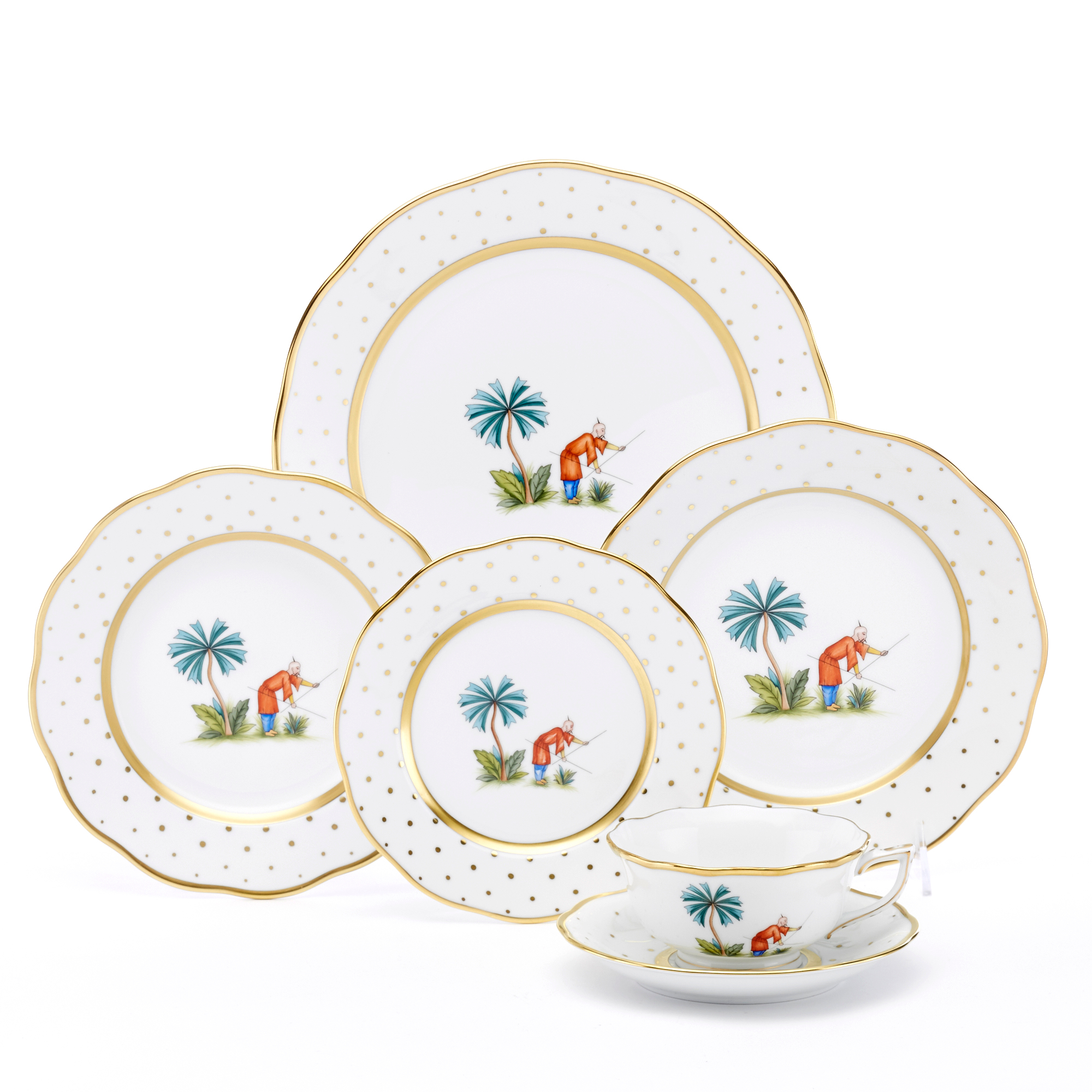 Herend Asian Garden Dinnerware, Motif 6