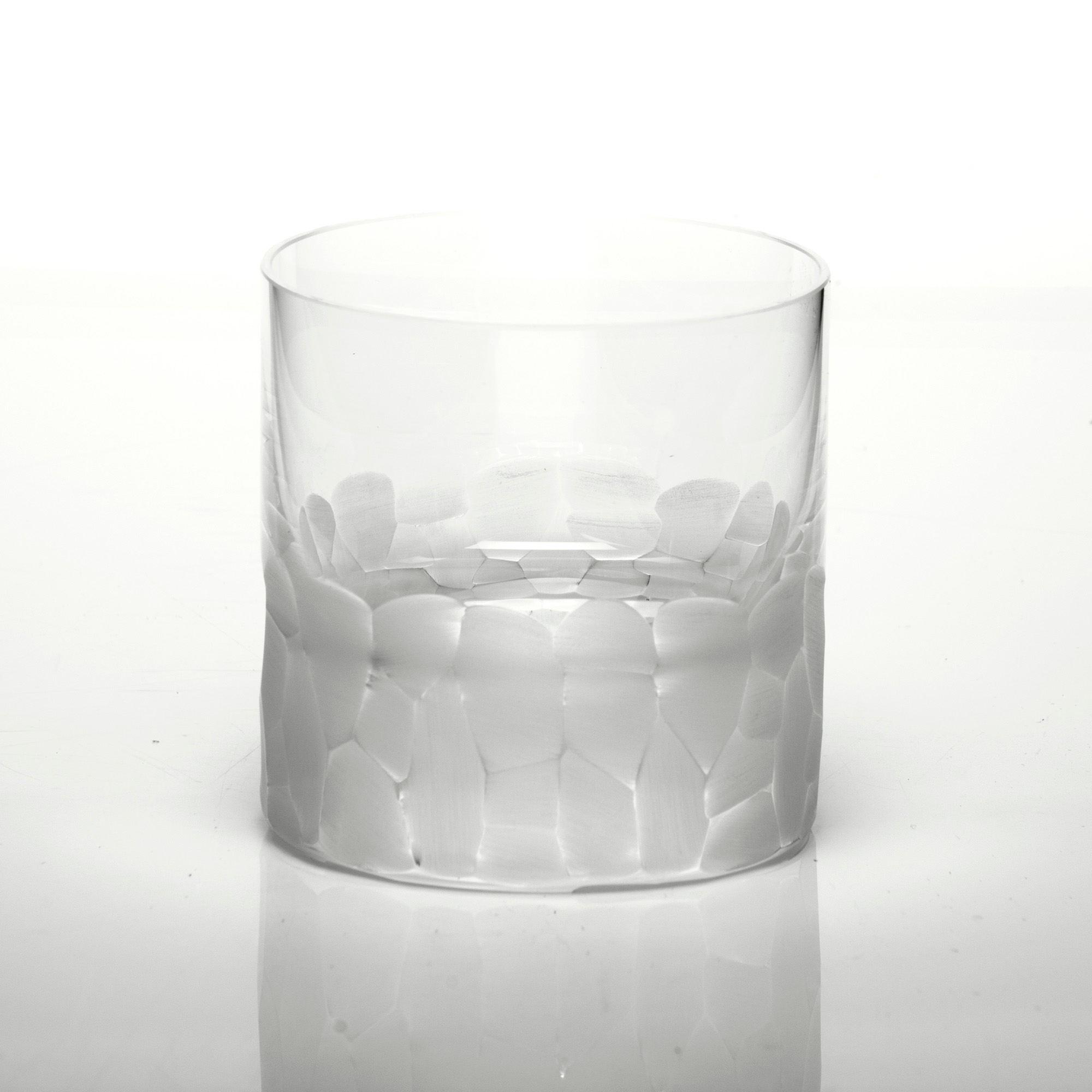 Moser Pebbles Single Old-Fashioned Glass, Clear
