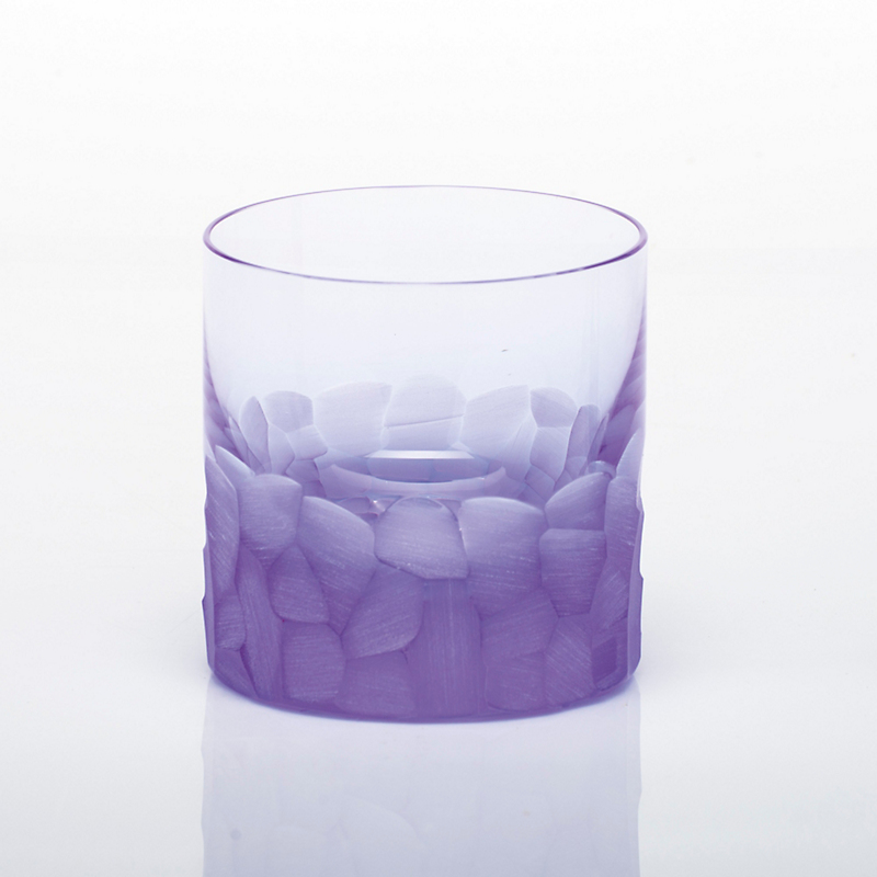 Moser Pebbles Single Old-Fashioned Glass, Alexandrite