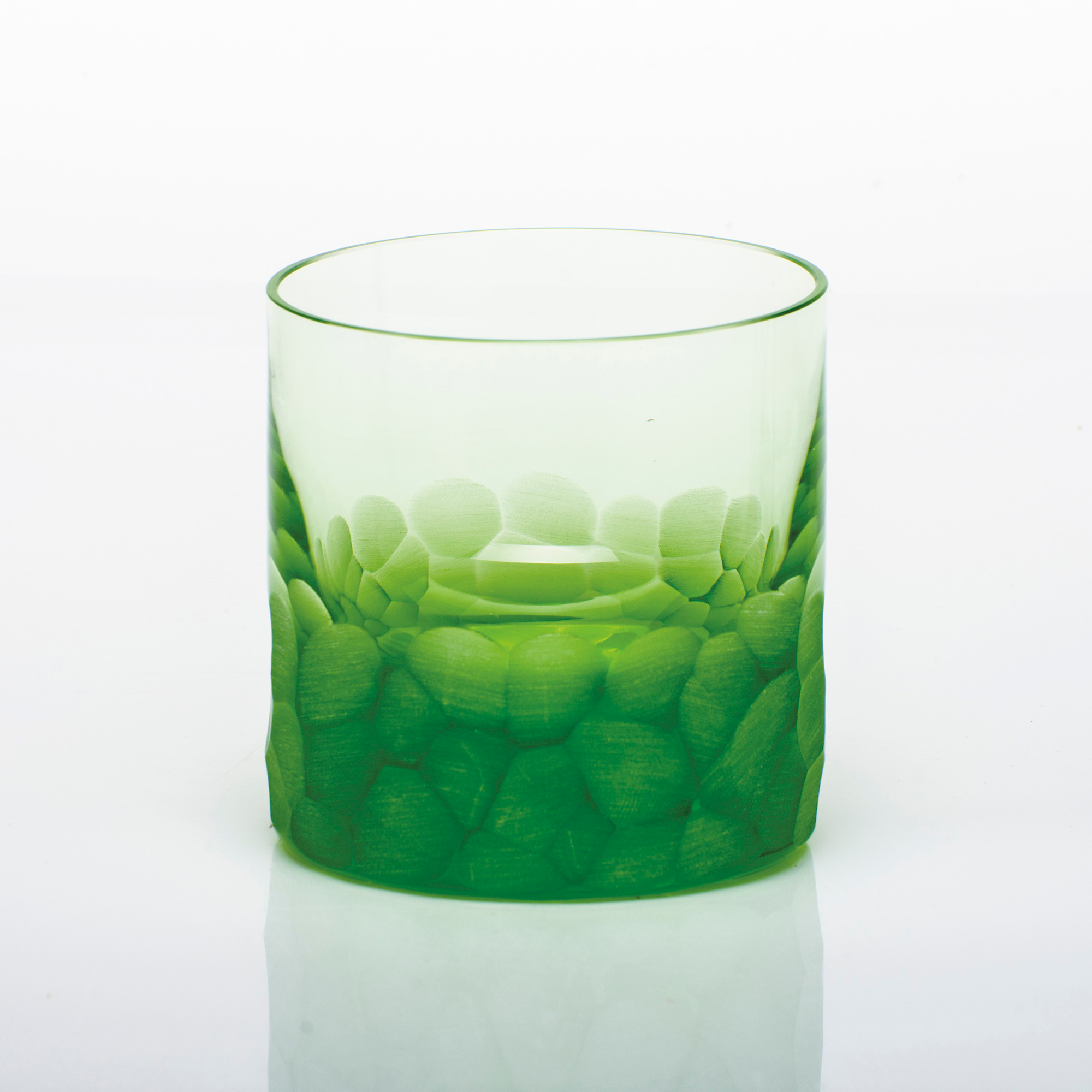 Moser Pebbles Single Old-Fashioned Glass, Ocean Green