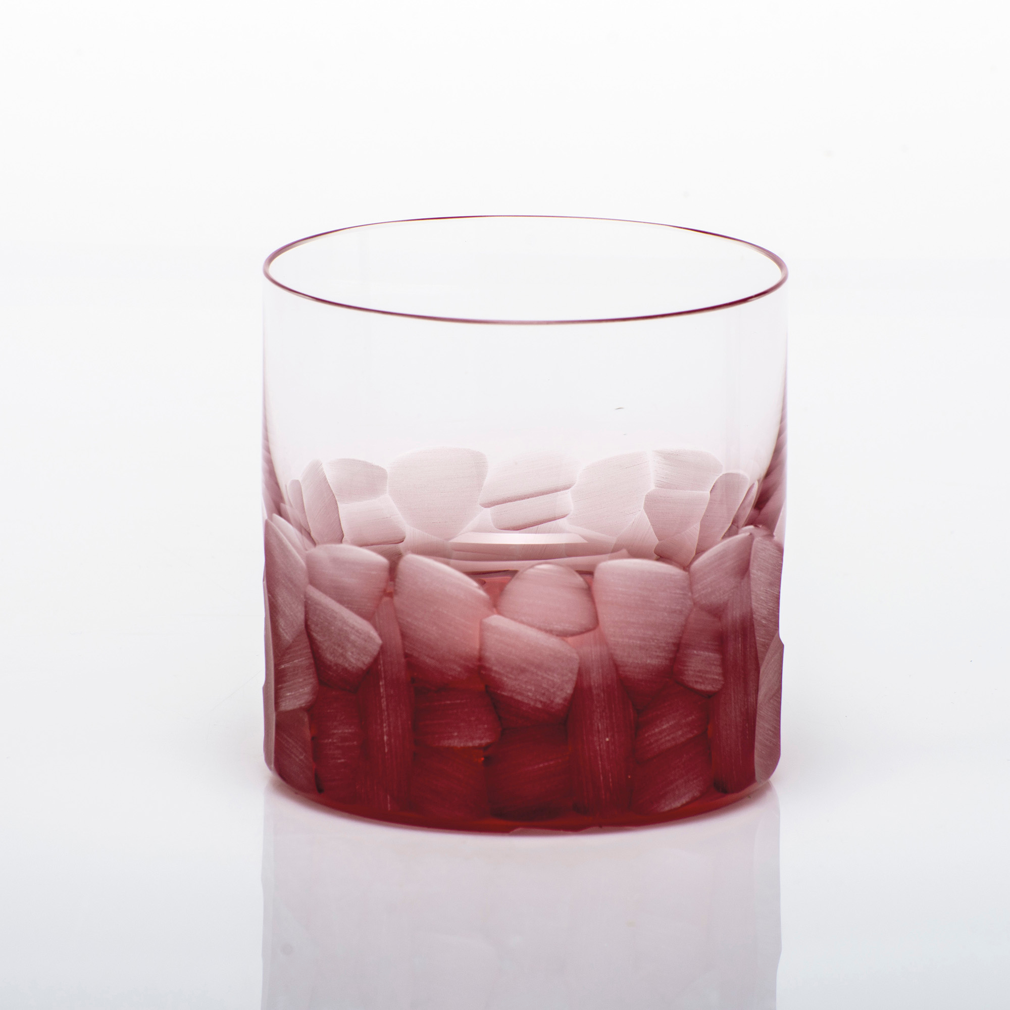 Moser Pebbles Single Old-Fashioned Glass, Rosalin Red