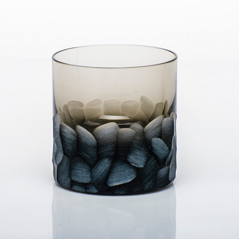 Moser Pebbles Single Old-Fashioned Glass, Smoke