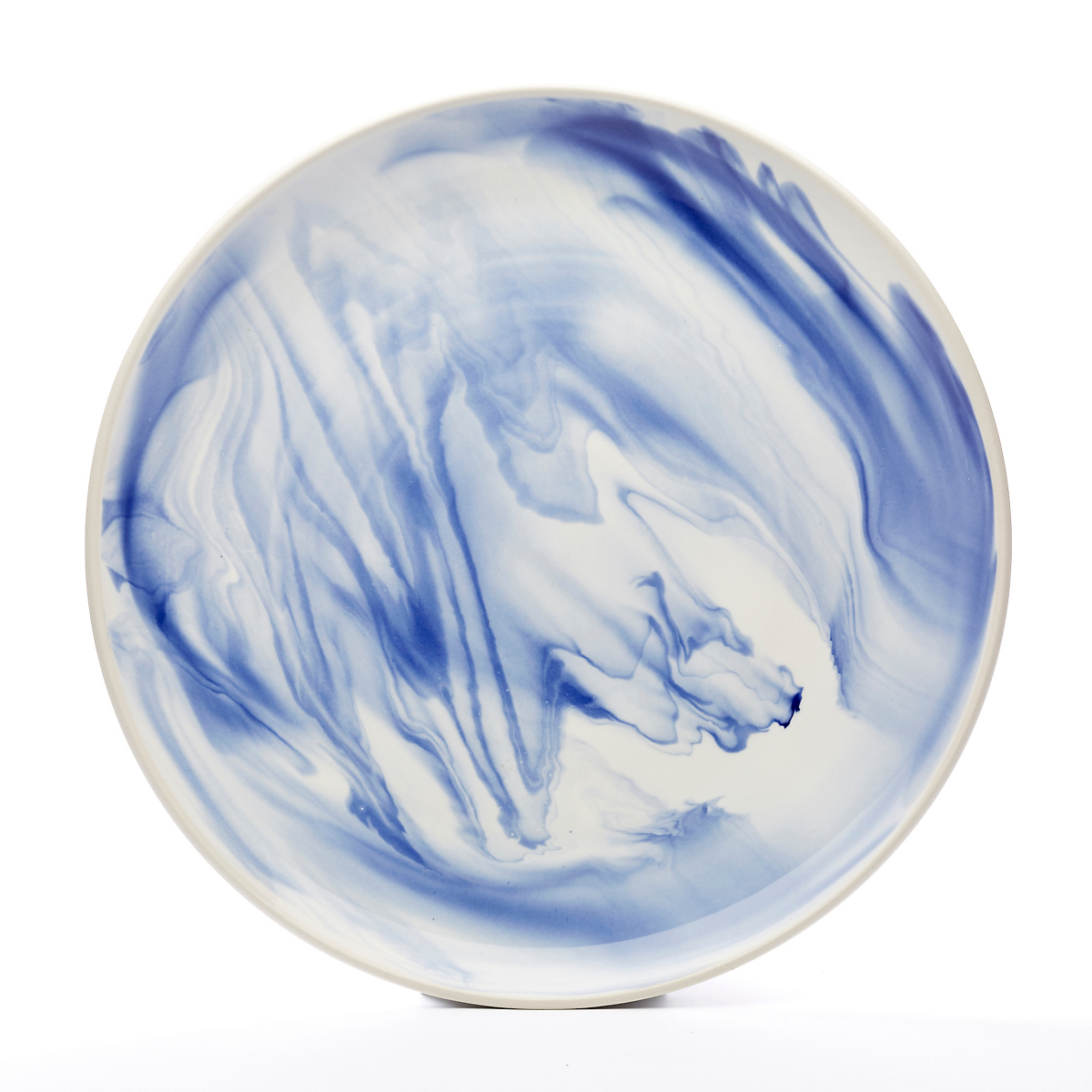 Simon Pearce Marble Platter, Blue