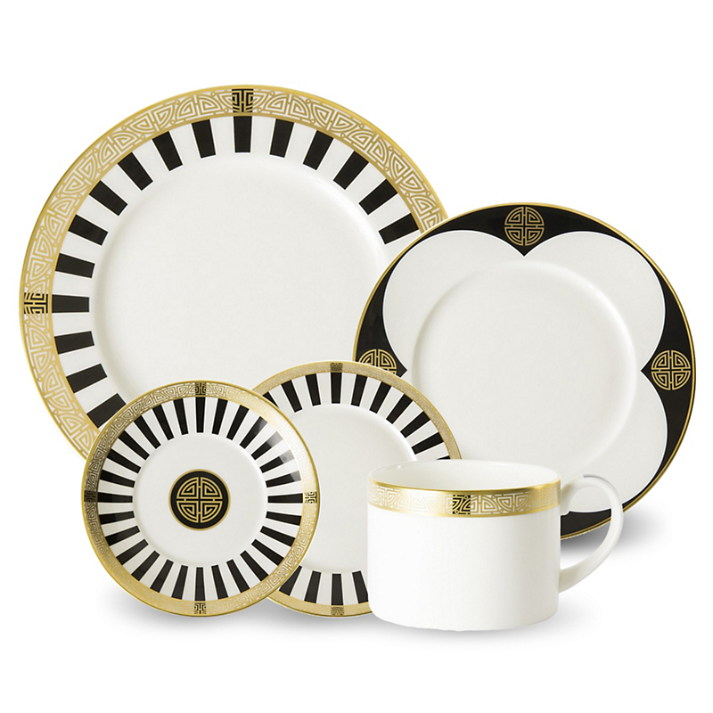 Royal Crown Derby Satori Black Dinnerware