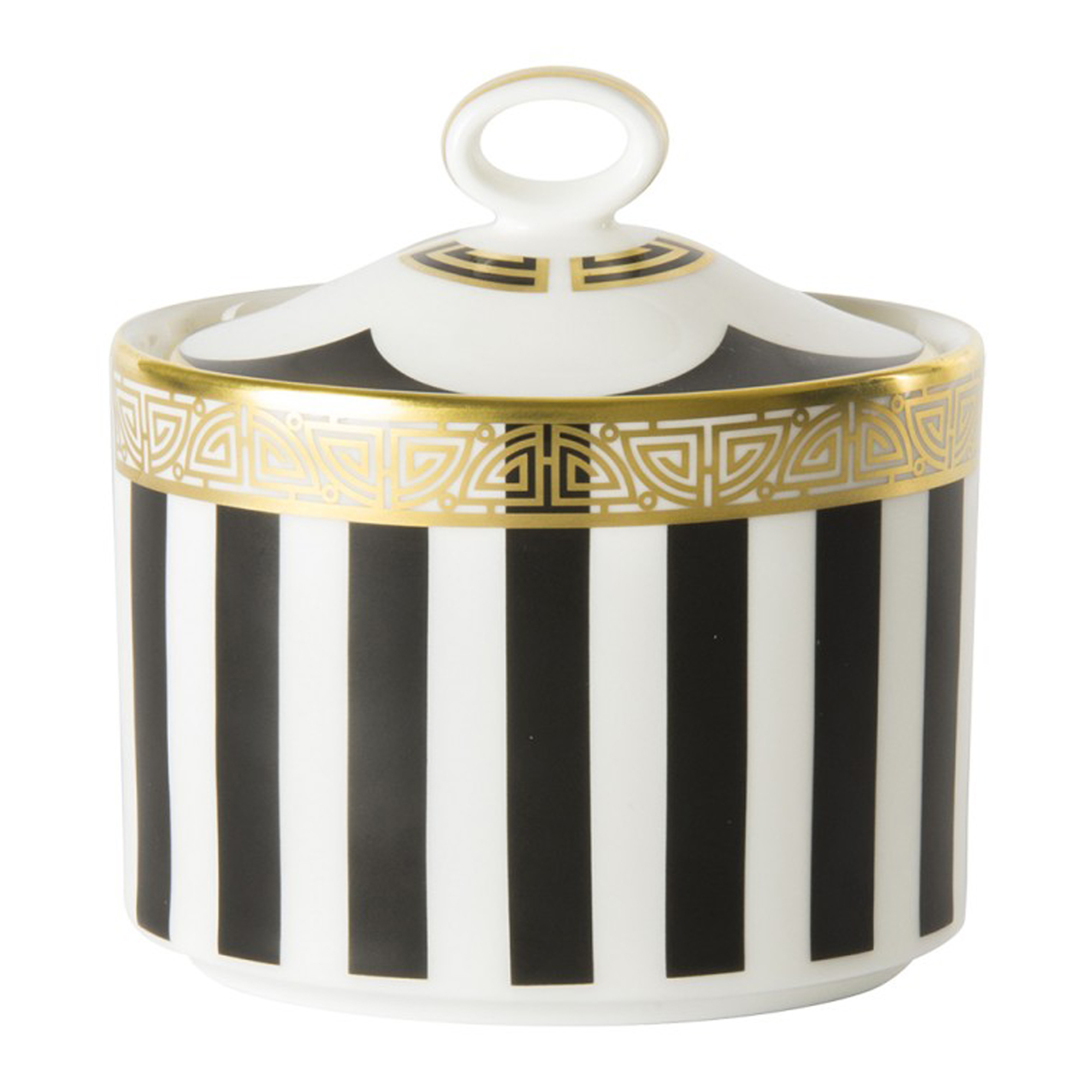 Royal Crown Derby Satori Black Sugar Bowl