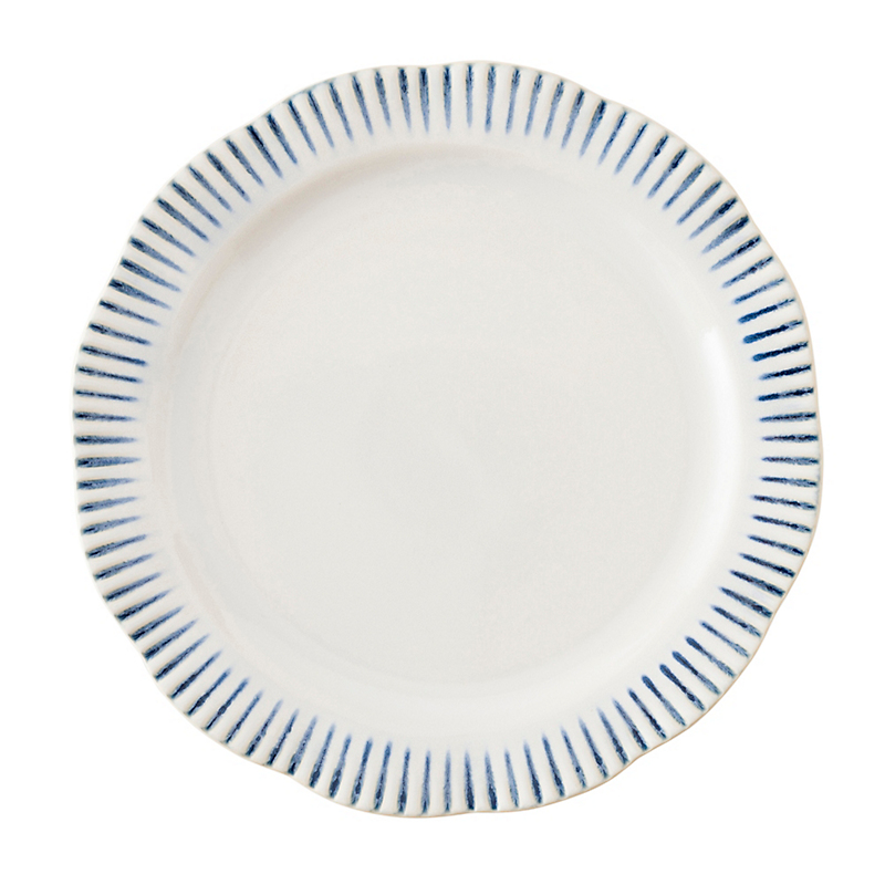 Juliska Sitio Stripe Dinner Plate Indigo  sc 1 st  Gumpu0027s : dinnerware and serveware sets - Pezcame.Com