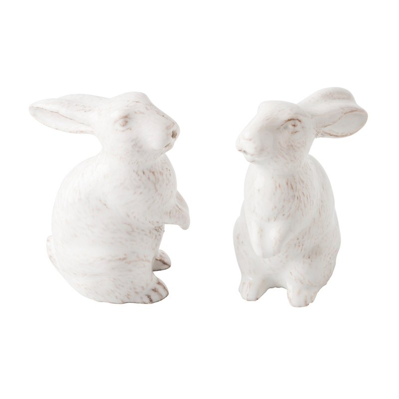 Juliska Bunny Salt & Pepper Shakers, Set of 2