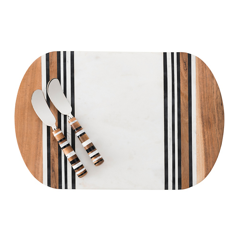 Juliska Stonewood Stripe Serving Board with Spreader
