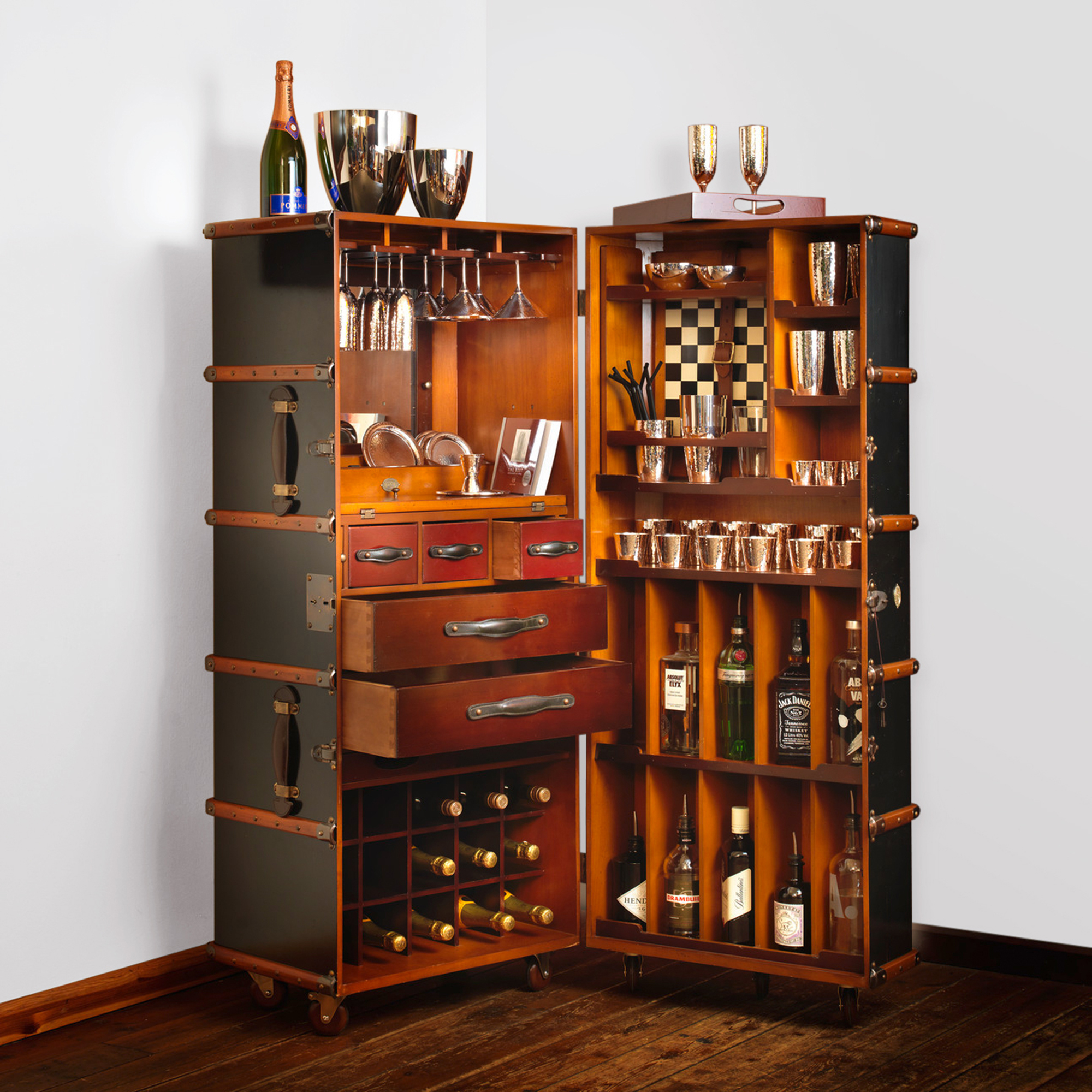 Robbe & Berking Martelé 62-Piece Bar Set with Trunk