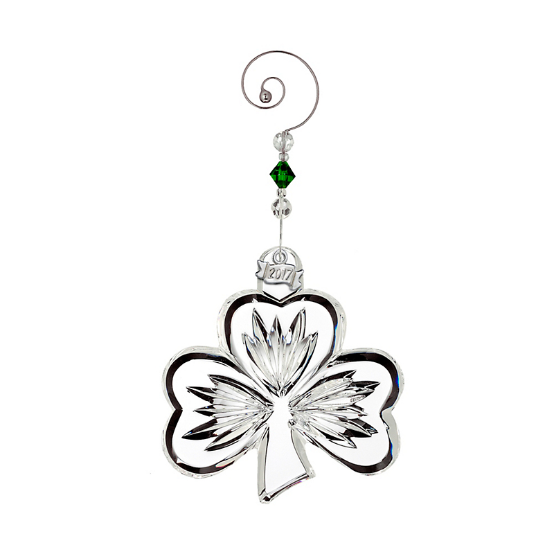 Waterford 2017 Shamrock Ornament, Clear