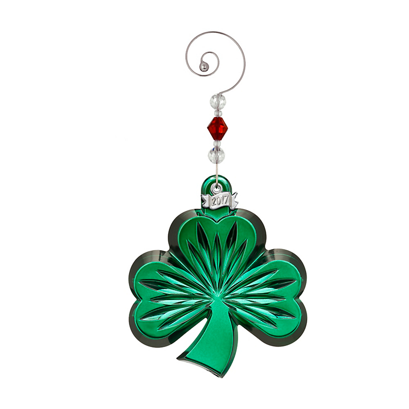 Waterford 2017 Shamrock Ornament, Green